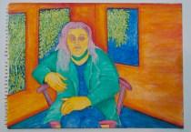 José Nava, Retrato de mujer en verde