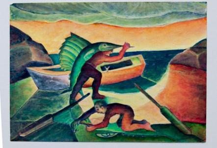 José Nava, Hombre llevando pez espada con niño