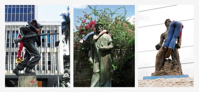 Malabarismo Monumental, 2011 Alejandro de la Guerra 3 fotografías