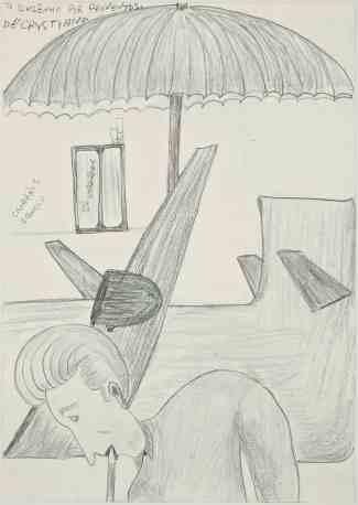 Jesuys Crystiano, Sin título, 08/2012, lápiz sobre papel, 59 x 42 cm. Imágenes por cortesía de la galería Delmes & Zander, Berlín + Colonia