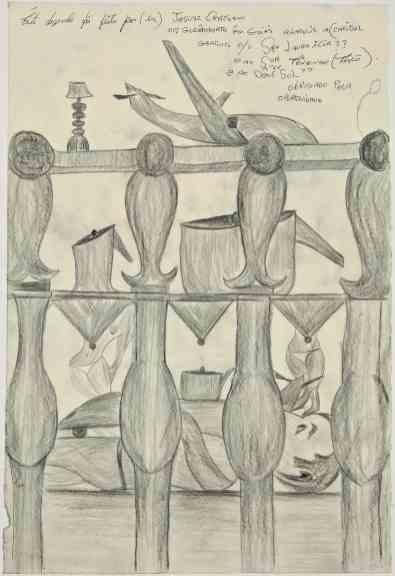 Jesuys Crystiano, Sin título, 11/2014 (JC/P 1203). Lápiz sobre papel, 48.9 x 33.4 cm. Imágenes por cortesía de la galería Delmes & Zander, Berlín + Colonia
