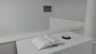 Hacia donde Olmedo miraba. Detalle de las obras de Ricardo Coello Gisbert y de Rosa Jijón. Cortesía de la Galería Ponce + Robles