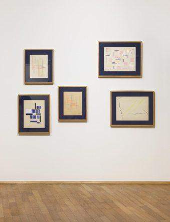 Yente, Untitled, 1948-1949 Ausstellungsansicht/exhibition view MMK Museum für Moderne Kunst, © Liliana Crenovich, Foto/photo: Axel Schneider