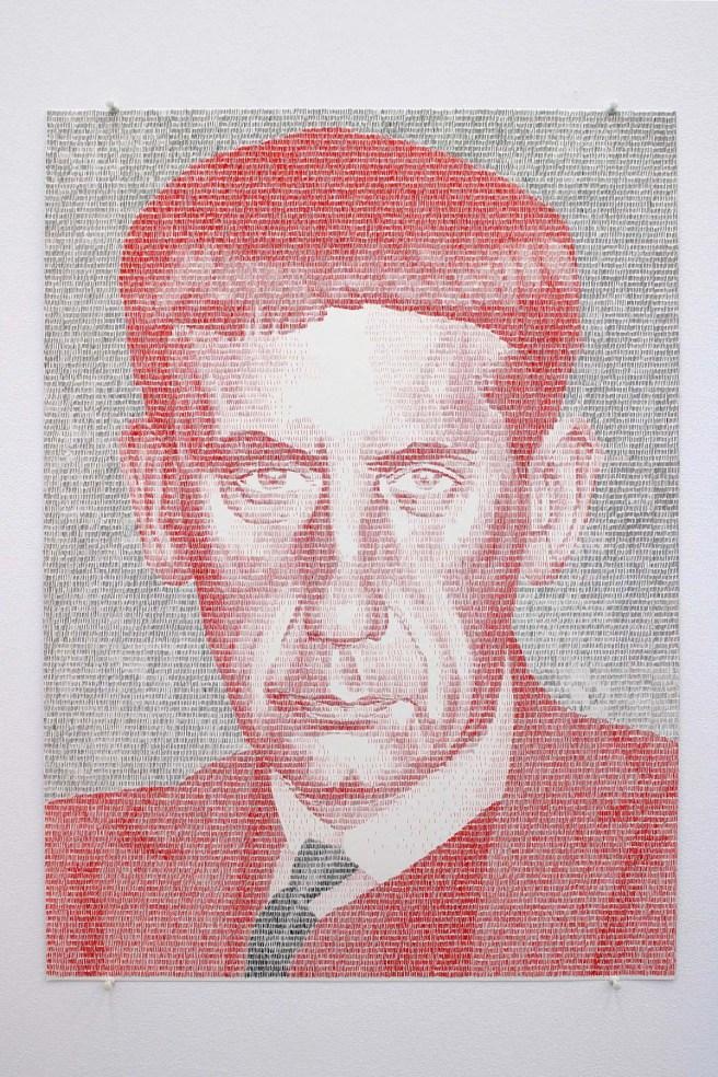 Gonzalo Elvira, W.G., 2016, Tinta sobre papel Britania, 70 x 50 cm. Cortesía de Carlos Rodríguez