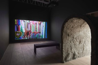 Mika Rottenberg. Cosmic Generator (Variant 4), 2017-18. Sculpture and video installation 26:37. Courtesy of the artist. Installation view: Goldsmiths CCA, 2018. Image credit: Andy Keats, 2018