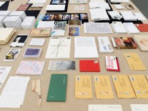 Dora García, EXILE, 2012 – ongoing, documents, books, photographs, maps, and postal material, courtesy the artist and Juana de Aizpuru, Madrid, Witte de With Center for Contemporary Art, 2018, photo by Kristien Daem.