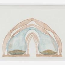 Jorge Macchi, Melt (2018). Acuarela sobre papel, 32,7 x 47,7 cm. Cortesía GALLERIA CONTINUA, San Gimignano / Beijing / Les Moulins / Habana. Foto: Ela Bialkowska, OKNO Studio