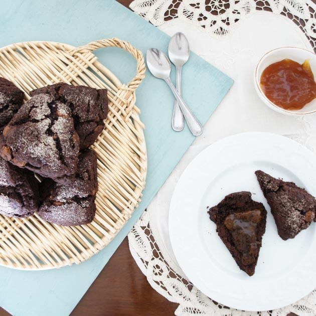 receta de scones de chocolate en mariaorsini