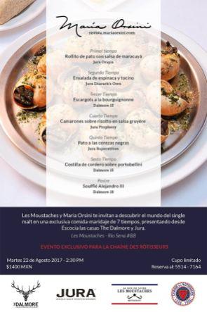 Una comida exclusiva para la Châine des Rôtisseurs, donde conocimos Jura y The Dalmore en un restaurante icónico de la ciudad: Les Moustaches