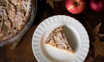 Pay de manzana con topping de otoño