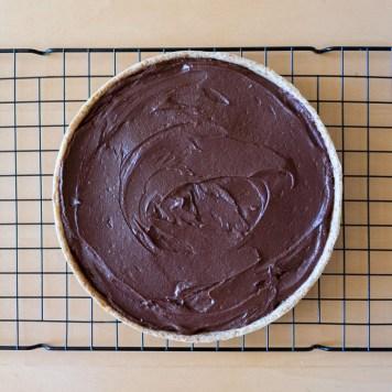 Tarta de chocolate con crema de cacahuate - receta de Maria Orsini