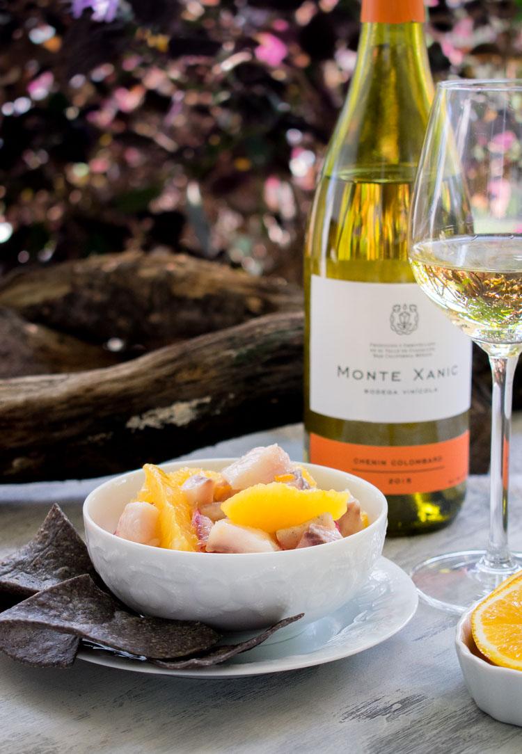 Platillos de verano: ceviche de robalo con naranja y chile manzano en revista Maria Orsini
