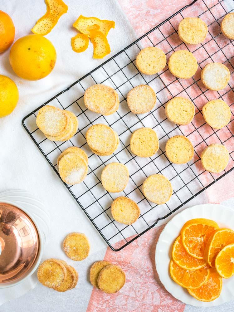 Galletas de naranja, receta en revista Maria Orsini