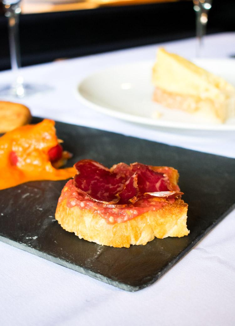 La Mallorquina, restaurante de comida española en la ciudad de México. Pan tumaca