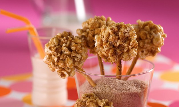 Paletas de palomitas y azúcar morena