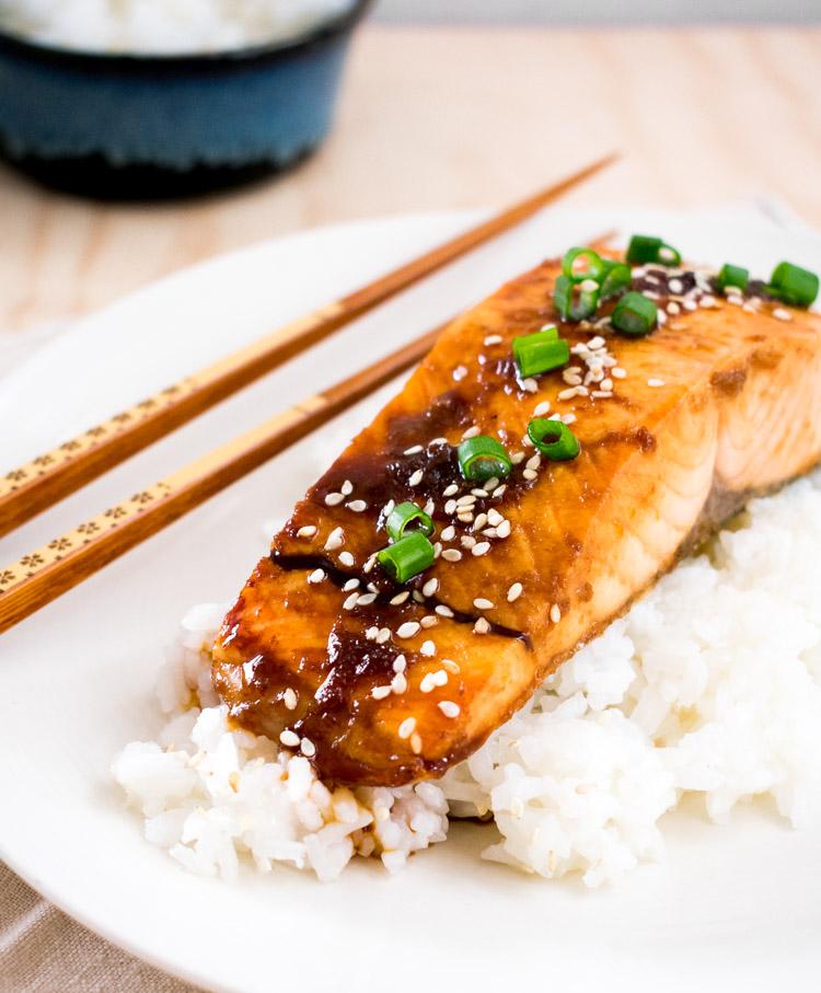Como preparar salmón teriyaki