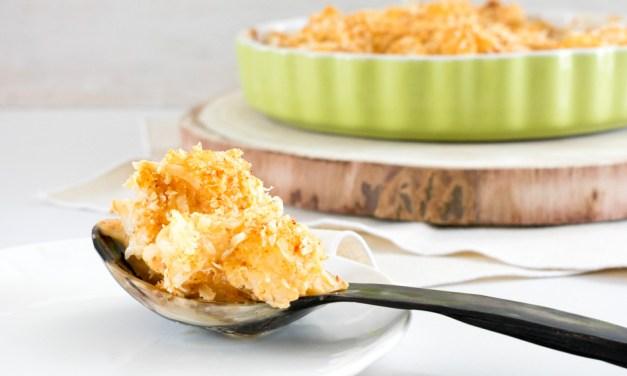 Coliflor en crema de chipotle gratinada