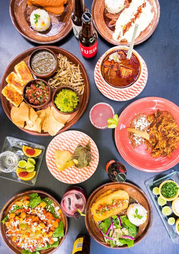 Comida tradicional michoacana en Mansion Iturbe, Patzcuaro