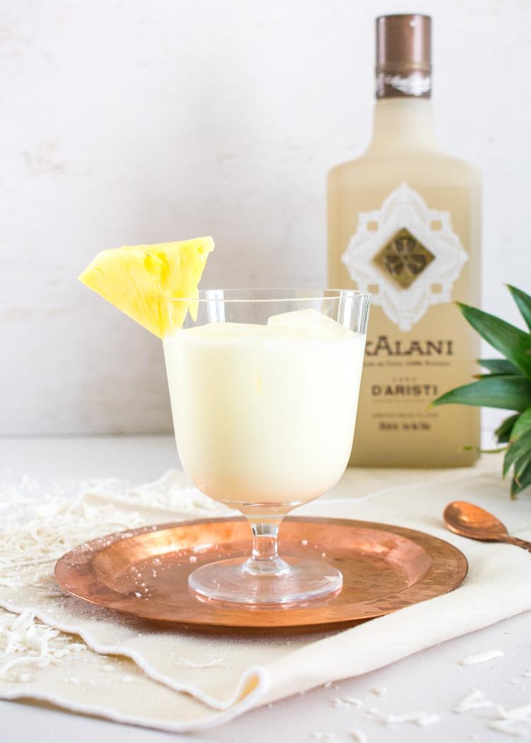Receta de piña colada ligera con licor de coco Kalani