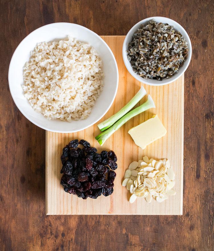 Ingredientes para preparar arroz aromático