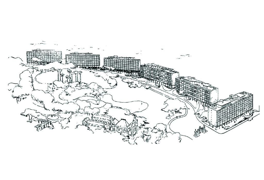 Edifícios do Parque Guinle (Lucio Costa, Rio de Janeiro, 1950) Fonte- Wisnik. Op. Cit. p.34 - 35