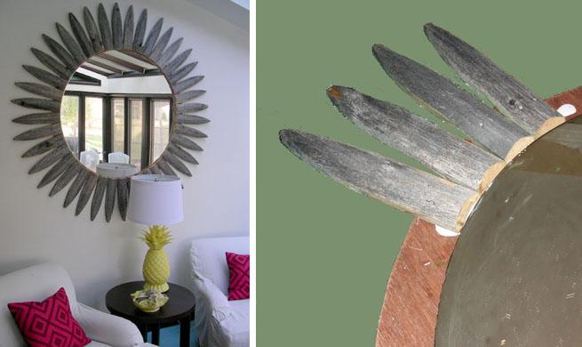 Espejo vintage con forma de sol revista muebles - Espejos con forma de sol ...