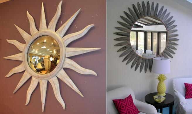 Espejo vintage con forma de sol revista muebles for Espejos decorativos con forma de sol