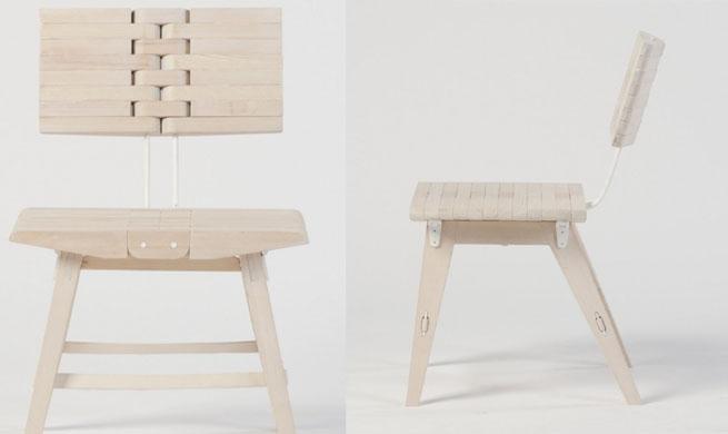 Ossa una silla que se dobla revista muebles for Cama que se dobla