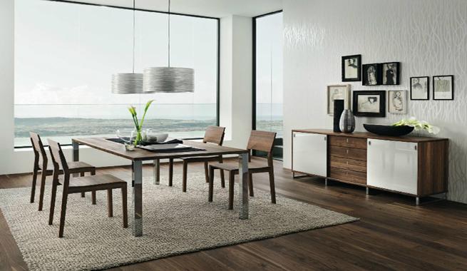 Comedores modernos con muebles de madera revista muebles for Comedores modernos de diseno