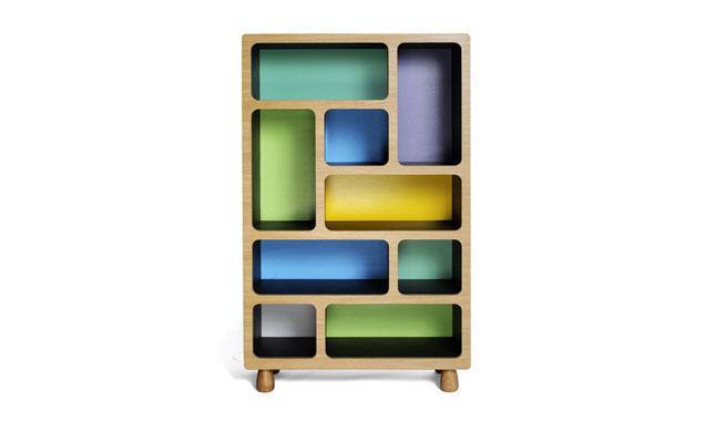 Estanter as de colores con dise o moderno revista - Estanterias de colores ...