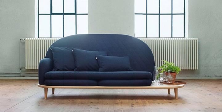 Sof con mesa auxiliar incorporada revista muebles - Cama con mesa incorporada ...