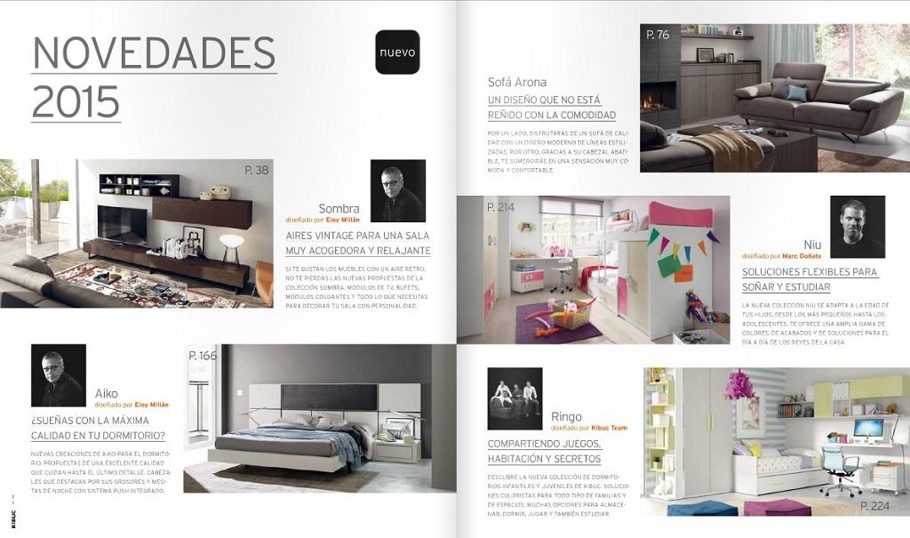 Catalogo muebles Kibuc 20153  Revista Muebles  Mobiliario de diseo