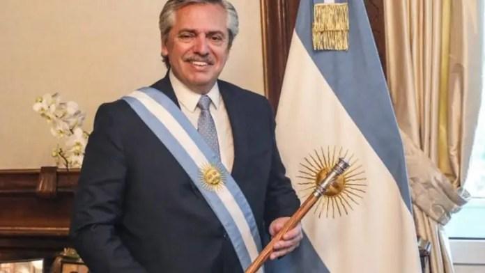 O presidente da Argentina, Alberto Fernández, no dia de sua posse, em 2019