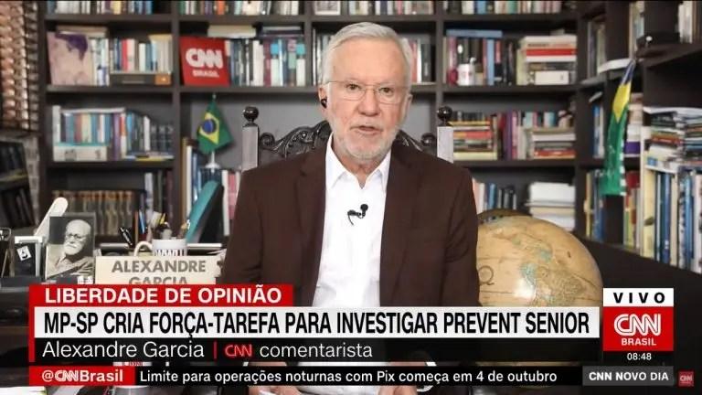 Jornalista Alexandre Garcia | Foto: Reprodução/CNN Brasil