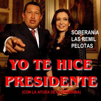 Cristina Kirchner es la criada de Chavez