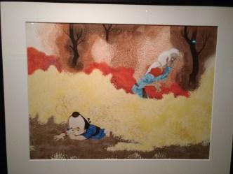 O autor também criou obras de pintura.