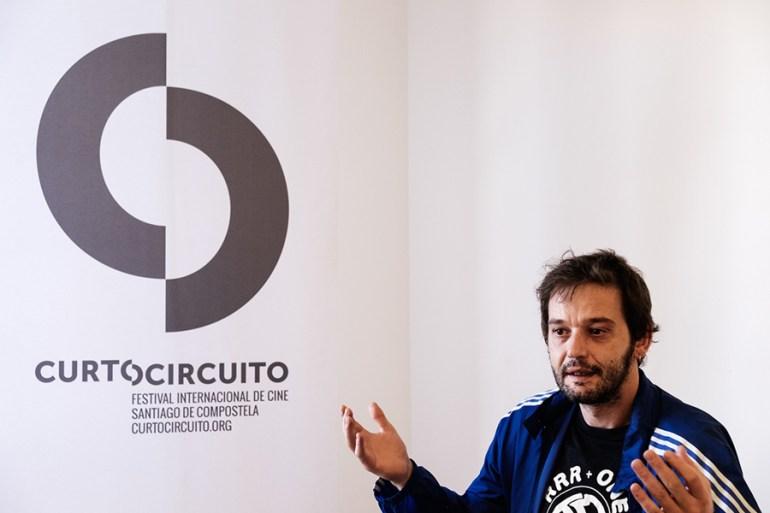 Gracia visitou Santiago polo festival Curtocircuíto. Foto: Iván Barreiro