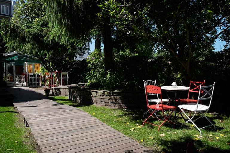 O xardín de A Horta do Obradoiro. Foto: Iván Barreiro.