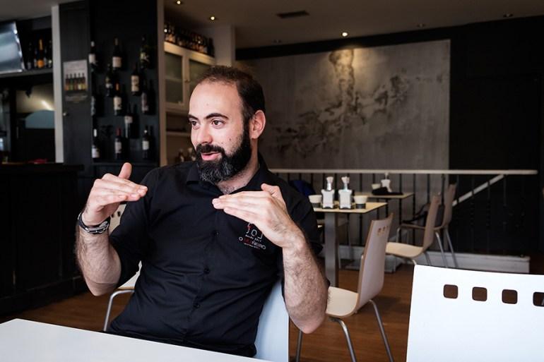 Rubén González, en O Muiñeiro. Foto: Iván Barreiro