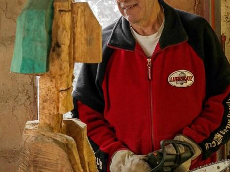 Tino Canicoba no seu taller. Foto: Delio Sánchez