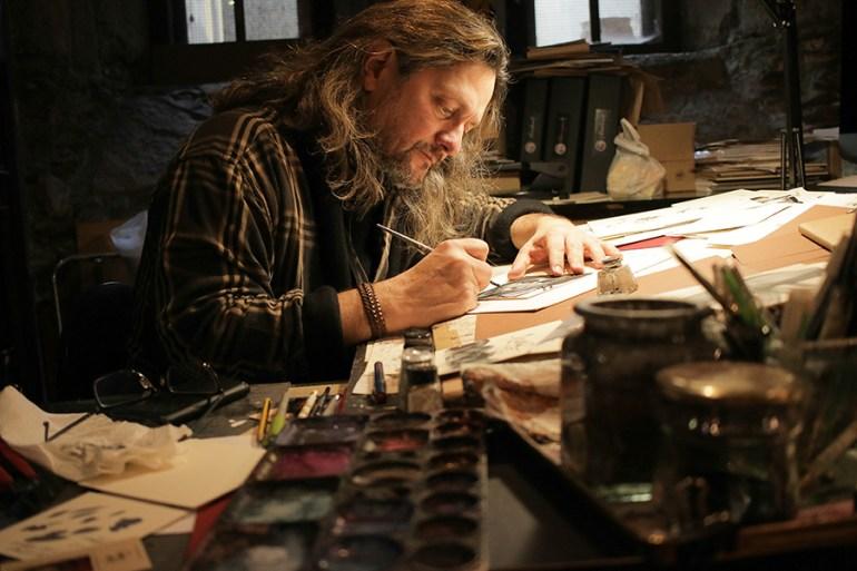 Zamo Tamay, no seu estudo. Foto: Delio Sánchez