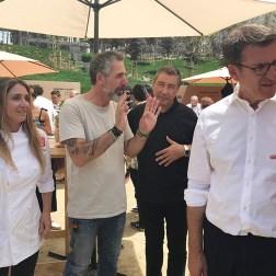 Lucía Freitas, Pepe Solla, Joan Roca e Feijóo.