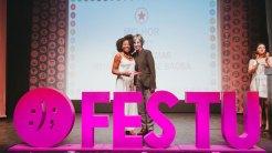 4 - Fernanda Dias e Cássia Kis_ Festu (Final da Mostra Nacional Competitiva) - Foto Zeca Vieira