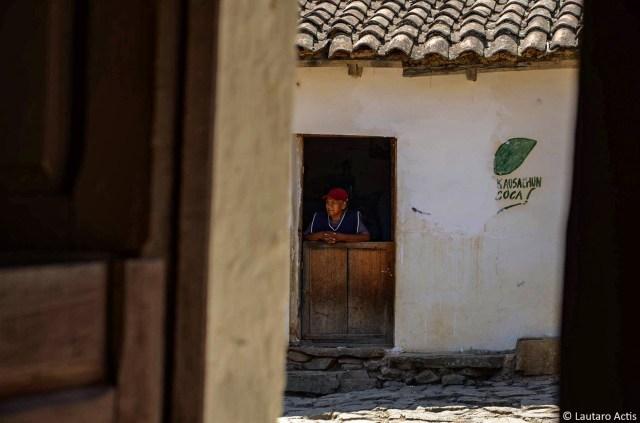Doña Gregoria en su casa ©