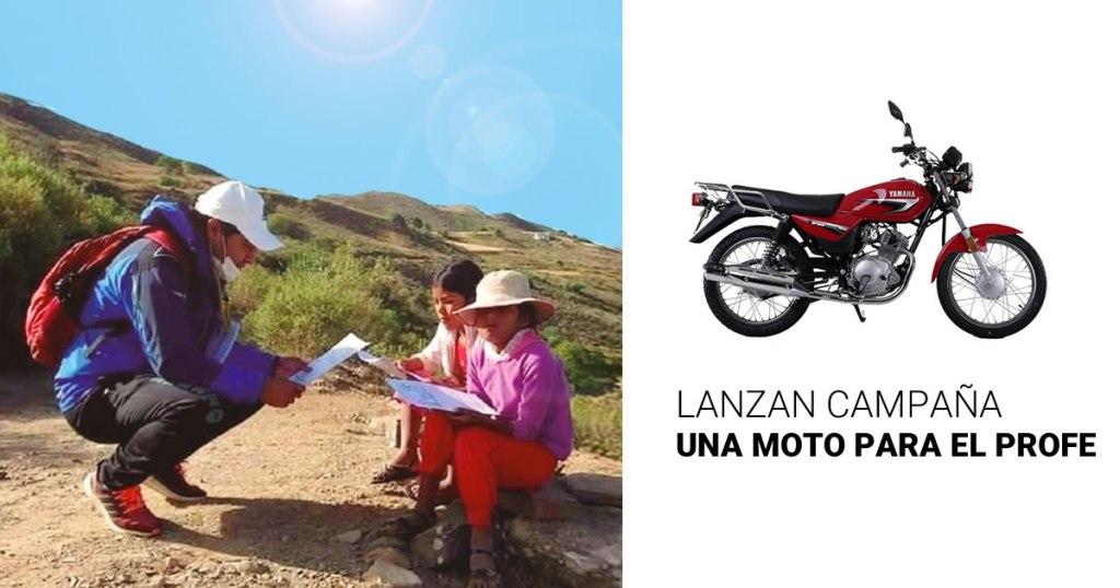 """Lanzan campaña """"Una Moto para El Profe"""""""
