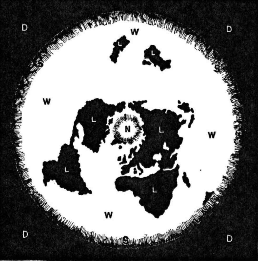 Diagrama de livro terraplanista