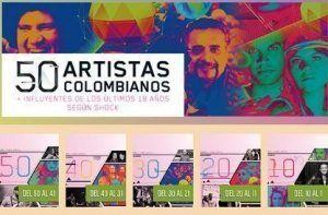 50 artistas influyentes de Colombia revista shock