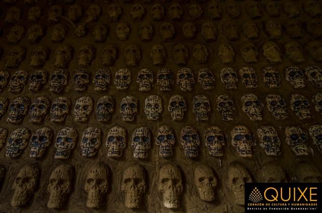 Tzompantli en Panteón General.