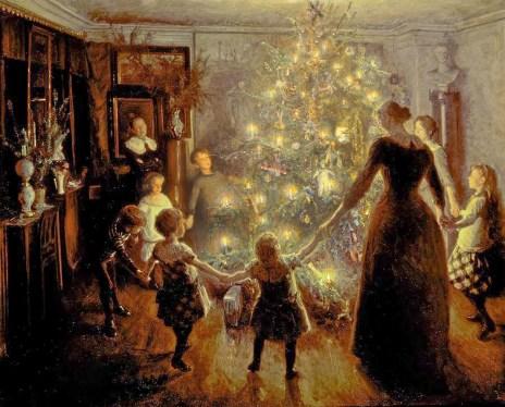 El árbol de Navidad, Albert Chevallier, 1911
