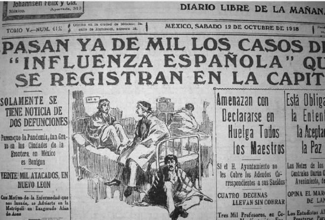 06. La Gripe Española fue noticia de primera plana en El Demócrata